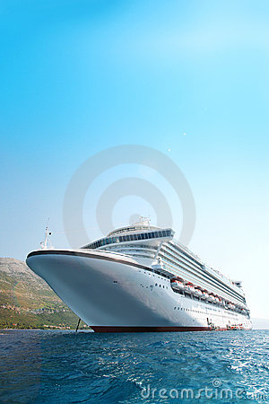 Cruise ship in the Adriatic Sea