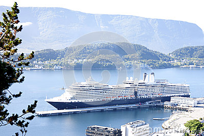 Cruise Ship in Alesund Norway