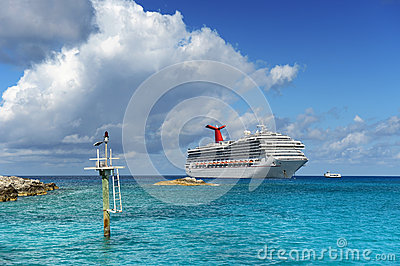 Cruise Ship Anchored Near Shore