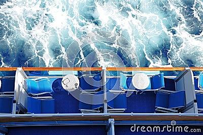 Cruise ship balconies