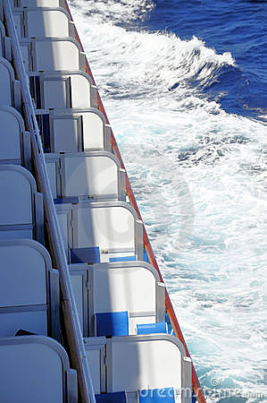 Cruise ship balconies