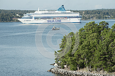 Cruise ship in Baltic sea Editorial Photo