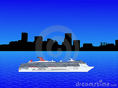Cruise Ship In Baltimore Stock Photo  Image 4019760