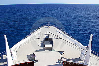 Cruise Ship Bow at Sea