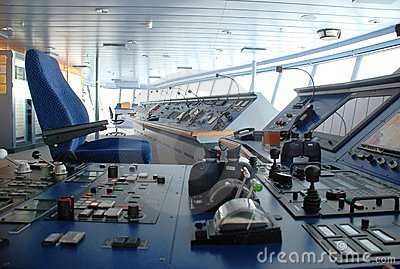 Cruise ship bridge inside