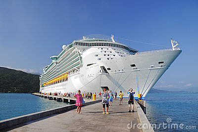 Cruise Ship Caribbean Haiti Editorial Photography