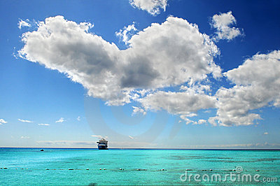 Cruise Ship in Caribbean Waters