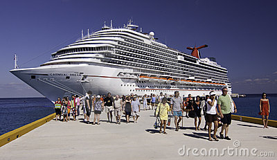 Cruise ship - Carnival Dream in Cozumel Editorial Photo