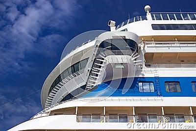 Cruise ship closeup
