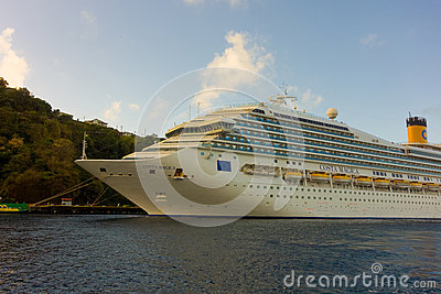 The Cruise Ship Costa Magica Calling At Kingstown Port
