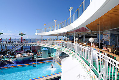 Cruise Ship Deck Editorial Photography