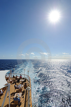 Cruise Ship Deck Editorial Image