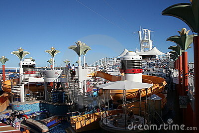 Cruise ship deck Editorial Stock Image