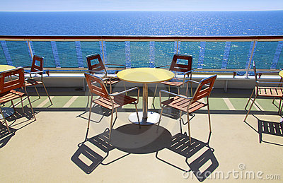 Cruise ship deck cafe