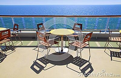 Cruise ship deck cafe