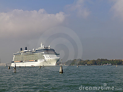 Cruise ship departing Venice Editorial Image