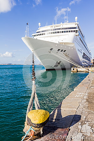 Cruise ship docked Editorial Stock Photo