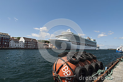 Cruise ship in Stavanger Editorial Image