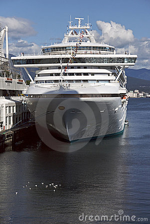 Cruise Ship Docked in Vancouver