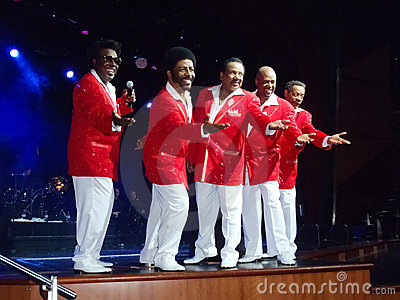 Cruise Ship Entertainment - The Temptations Editorial Photo