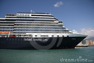 Cruise Ship Eurodam in Trapani Harbour Editorial Photo