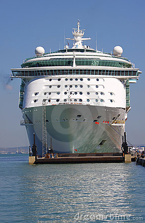 Cruise ship front bow