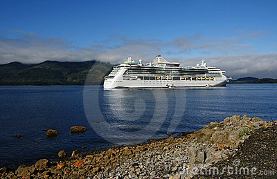 Cruise Ship in Icy Strait Point, Alaska