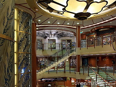 Cruise ship indoors