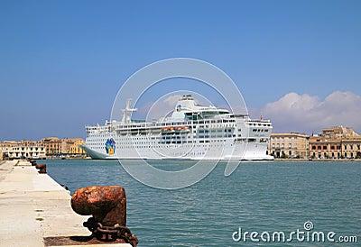 Cruise Ship Island Escape Editorial Stock Image