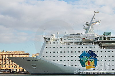 Cruise ship Island Escape Editorial Stock Photo