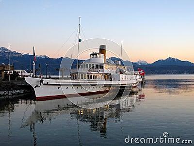 Cruise ship on Lake Geneva 02, Switzerland