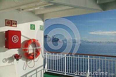 Cruise ship, life preserver