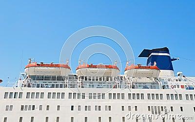 Cruise Ship Lifeboats.