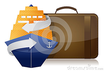 Cruise ship and luggage