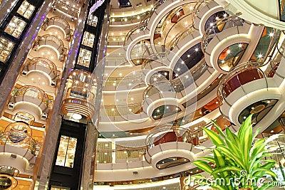 Cruise ship luxury interior Editorial Photography