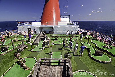 Cruise ship Mini golf course Editorial Photo