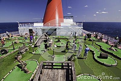 Cruise ship Mini golf course Editorial Photo