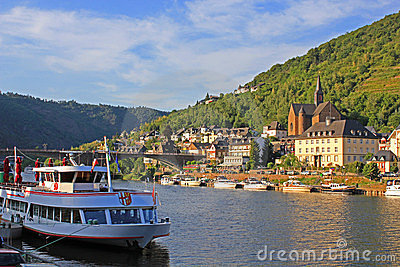 Cruise ship on Moselle River