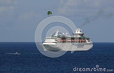 Cruise ship near coast