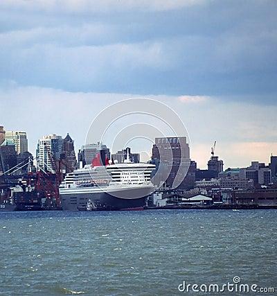 Cruise Ship Queen Mary 2 New York USA