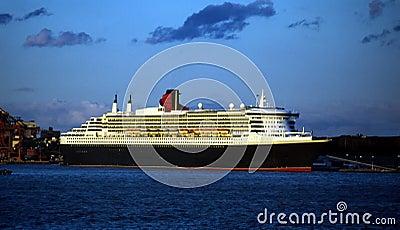 Queen Mary 2 Cruise Ship Brooklyn New York USA