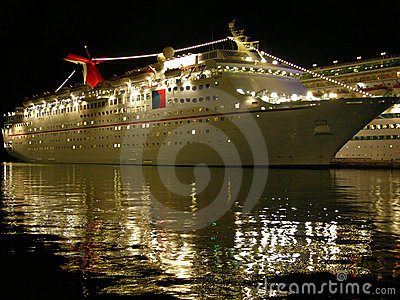The Cruise Ship At Night