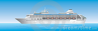 Cruise Ship in ocean