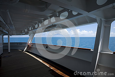 Cruise Ship and Ocean View