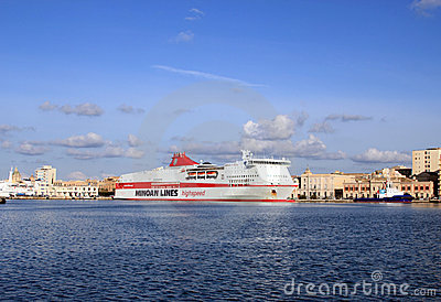 Cruise ship Olympia Palace Editorial Stock Image