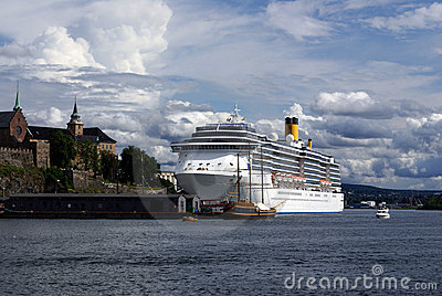 Cruise ship in Oslo, Norway