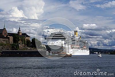 Cruise ship in Oslo, Norway