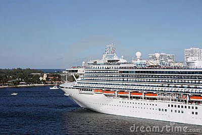Cruise ship parked in Fort Lauderdale Editorial Image