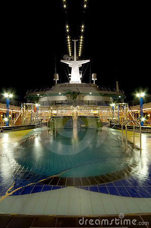 Free Cruise Ship Pool Stock Image - 129381