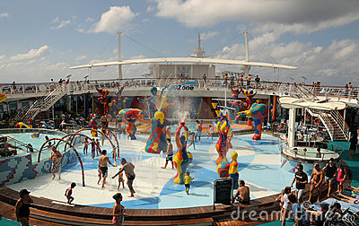 Cruise ship pool deck Editorial Photography